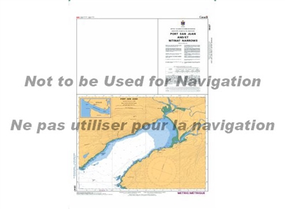 3647 - Port San Juan and Nitinat Narrows Nautical Chart. Canadian Hydrographic Service (CHS)'s exceptional nautical charts and navigational products help ensure the safe navigation of Canada's waterways. These charts are the 'road maps' that guide mariner