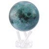 MOVA Solar Globe of the MOON - 4.5 Inch. It may take the moon an entire month to transition from full coverage to full moon, but you can appreciate its alluring blue/grey color and dark craters any time with this exclusive MOVA Globe. It was created using