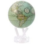 MOVA Solar Globe Cassini Sea Foam - 4.5 Inch. MOVA Globe recreates the earth's perpetual motion in space, on your desktop, or even in the palm of your hand. These globes float at a perfect point of balance between gravitational forces and the buoyant forc