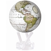 MOVA Globe Cassini White - 4.5 Inch. MOVA Globe recreates the earths perpetual motion in space, on your desktop, or even in the palm of your hand. These globes float at a perfect point of balance between gravitational forces and the buoyant forces of surr