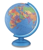 World Globe - Adventurer 12 inch REPLOGLE. For the young adventurer! Geared towards young students, the 12 inch diameter blue ocean globe features raised relief, distinctive ocean topography and easy to find geographic locations. The globe is mounted on a