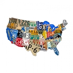 License Plate USA Vintage Metal Sign