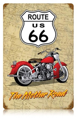 Mother Road Route 66 Vintage Metal Sign