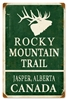 Rocky Mountain Trail Jasper Vintage Metal Sign