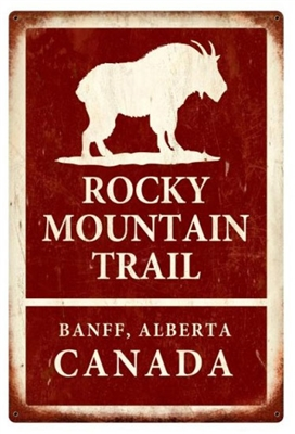 Rocky Mountain Trail Banff Vintage Metal Sign
