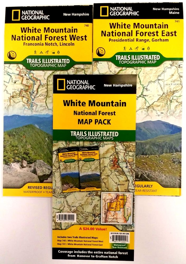 White Mountain National Forest map pack - National Geographic