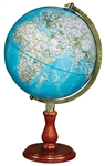 "National Geographic Hudson World Globe 12"". The Hudson is a dynamic desktop accessory that offers the most up to date National Geographic cartography in a classic blue globe ball. This 12"" diameter globe has an antique brass-plated die-cast semi-meridian"
