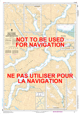 3974 - Dean Channel, Burk Channel and Bentinck Arms - Canadian Hydrographic Service (CHS)'s exceptional nautical charts and navigational products help ensure the safe navigation of Canada's waterways. These charts are the 'road maps' that guide mariners s