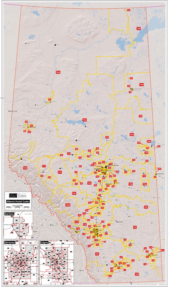 Alberta Provincial Base Map Postal Codes Map This Is A Simplified