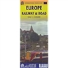 European Roads & Railways Map. This map shows how to get around Europe by planes, trains and automobiles, but mostly the last two. Included are inset maps of Northern Scandinavia and Iceland.