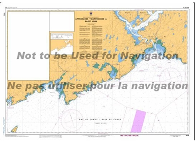 4116 - Approaches to Saint John Nautical Chart. Canadian Hydrographic Service (CHS)'s exceptional nautical charts and navigational products help ensure the safe navigation of Canada's waterways. These charts are the 'road maps' that guide mariners safely