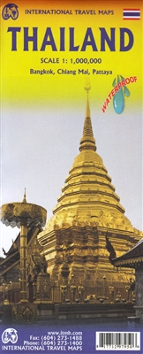 Thailand Travel & Road Map. This double-sided map includes all of Thailand on one side and , and this map shows road and rail connections, distances, and top tourist attractions. Includes insets map of Chiang Mai, Bangkok Regional map with a transit map f