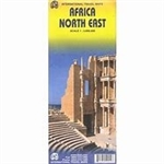 NE Africa Travel Map. This regional map covers a large area and offers detailed coverage of Libya and Egypt in the north, with Sudan and South Sudan, Ethiopia and Eritrea in the middle, Kenya and Uganda in the south, with a fair portion of Tanzania and Co