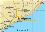 Somalia & Djibouti - Horn of Africa Travel & Road Map. This is a detailed map showing major roads, cities, land features, watering holes, national parks and points of interest. Includes an index. Somalia, officially the Federal Republic of Somalia, is a c