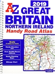 Great Britain & Northern Ireland Handy Road Atlas. This A-Z map of Great Britain is a full color, spiral bound handy road atlas. Its compact size (approximately A5) makes it ideal for a car glove box. Featuring 179 pages of detailed road mapping, this atl