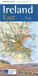 Ireland East Travel & Road Map by the Ordinance Survey. This is a one map from a series of four to cover Ireland. Whether you are on a motoring tour or exploring cross-country, these maps show you how to get there. They contain a clear presentation of the