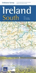 Ireland South Travel & Road Map by the Ordinance Survey. This is a one map from a series of four to cover Ireland. Whether you are on a motoring tour or exploring cross-country, these maps show you how to get there. They contain a clear presentation of th