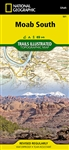 Moab South Utah Trail Map National Geographic. This map includes Canyonlands National Park, Dead Horse Point State Park, and Canyon Rims and Sand Flats recreation areas, as well as detail of the Moab, Poison Spider Mesa, Gemini Bridges, Hurrah Pass area,