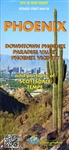 Phoenix Arizona road map. Have the city in your pocket with this detailed double sided folded street map of Phoenix, Downtown Phoenix, Paradise Valley, Phoenix Vicinity and portions of Scottsdale, Tempe. Includes a handy index map.