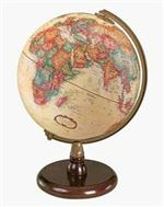 Quincy - 9 Inch World Globe. A solid walnut-finished hardwood base and die-cast semi-meridian provide the setting for this 9 inch globe. The globe has raised relief. These are some of the highest quality globes found anywhere. Perfect for any office or yo