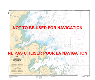 5348 - Approaches to Hopes Advance Bay - Canadian Hydrographic Service (CHS)'s exceptional nautical charts and navigational products help ensure the safe navigation of Canada's waterways. These charts are the 'road maps' that guide mariners safely from po