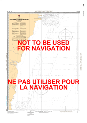 5399 - Egg Island to Eskimo Point - Canadian Hydrographic Service (CHS)'s exceptional nautical charts and navigational products help ensure the safe navigation of Canada's waterways. These charts are the 'road maps' that guide mariners safely from port to