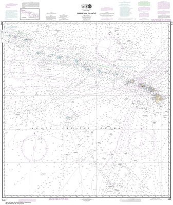 NOAA Chart 540. Nautical Chart of the Hawaiian Islands. NOAA charts portray water depths, coastlines, dangers, aids to navigation, landmarks, bottom characteristics and other features, as well as regulatory, tide, and other information. They contain all c