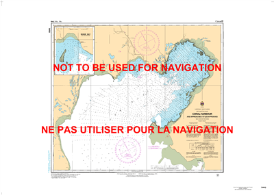5410 - Coral Harbour & Approaches Nautical Chart. Canadian Hydrographic Service (CHS)'s exceptional nautical charts and navigational products help ensure the safe navigation of Canada's waterways. These charts are the 'road maps' that guide mariners safel
