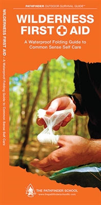 Wilderness First Aid pocket guide. Wilderness First Aid covers simple techniques to treat common injuries and sickness in a wilderness situation. This waterproof, folding guide includes great tips and techniques to help you be more comfortable while await