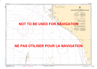5705 - Cape Dufferin to Broughton Island - Canadian Hydrographic Service (CHS)'s exceptional nautical charts and navigational products help ensure the safe navigation of Canada's waterways. These charts are the 'road maps' that guide mariners safely from