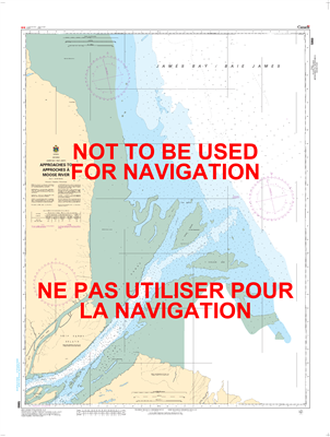 5860 - Approaches to Moose River - Canadian Hydrographic Service (CHS)'s exceptional nautical charts and navigational products help ensure the safe navigation of Canada's waterways. These charts are the 'road maps' that guide mariners safely from port to