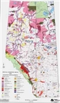 Alberta Provincial Base Map Special Conditions Laminated