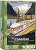 "The Canadian by Roger Cuillard 1000 Piece Puzzle. Finished Size: 19.25"" x 26.5"". An icon of locomotive history, The Canadian promised a view of the spectacular Canadian landscape like no other, from the comfort of an ultra-modern, lightweight, highly attr"