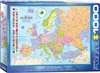 "EuroGraphics Map of Europe 1000 Piece Puzzle. Box size: 10"" x 14"" x 2.37"". Finished Puzzle Size: 19.25"" x 26.5"". Learning geography has never been so easy. This Map of Europe includes major and capital cities along with country flags. Strong high-quality"