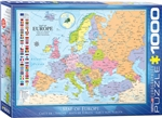 Map of Europe Puzzle 1000 Pieces