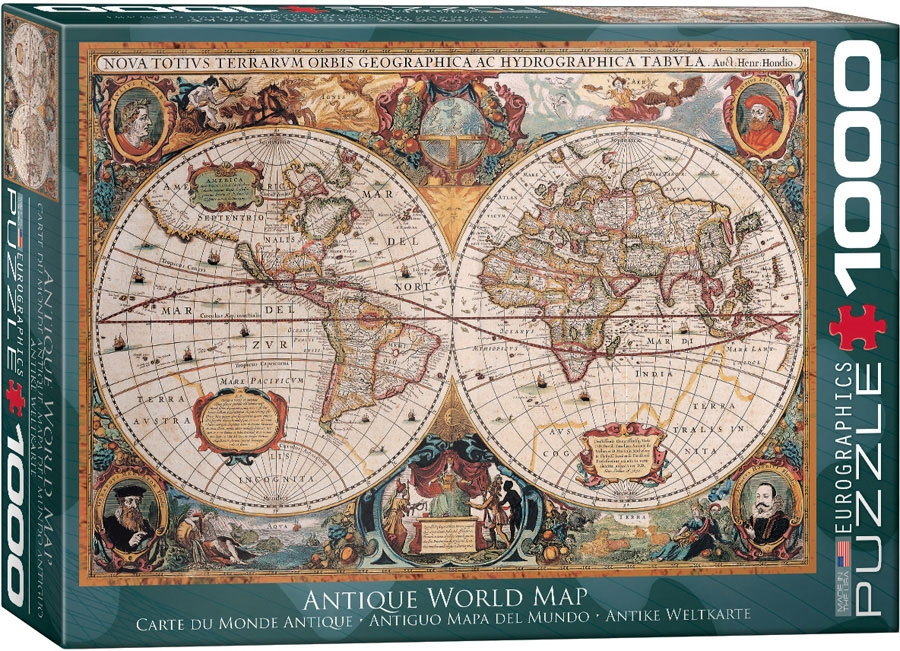 Antique world map puzzle 1000 pieces gumiabroncs