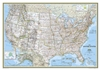 USA Classic National Geographic Wall Map