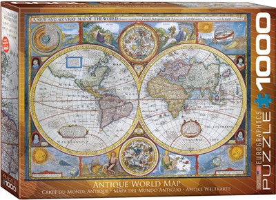 Antique World Map John Speed Puzzle 1000 Pieces