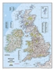 Britain and Ireland Classic National Geographic Wall Map
