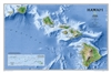 Hawaii Physical National Geographic Wall Map
