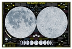"The Moon - National Geographic Wall Map. National Geographic's ""The Earth's Moon"" is like having an atlas and almanac in one. This incredible map/poster shows a detailed image of both sides of the Moon."