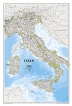 Italy Classic - National Geographic Wall Map. Our most detailed wall map of Italy. Features thousands of place names, accurate political boundaries, major infrastructure networks such as roads, canals, aqueducts, ferry routes, airports, and railroads. Ita