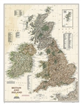 Britain & Ireland Executive National Geographic Wall Map. Our classic political map of Britain and Ireland shows country boundaries, thousands of place names, major highways and roads, airports, bodies of water, and more.