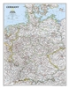 Germany Classic - National Geographic Wall Map. Complete political detail of Germany - country boundaries, roads and cities, airports, bodies of water, and other geographic details.