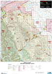 Sibbald & Elbow NE Kananaskis WMU Map. The maps shows the boundary for Kananaskis Country, the Public Land Use Zones, crown land, private or freehold land, park boundaries, wildlife corridors and sanctuaries, camping spots, trailheads, roads, atv trails,