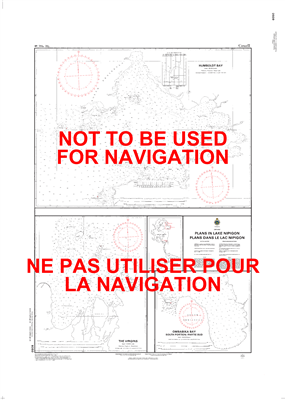 6050 - Plans in Lake Nipigon - Canadian Hydrographic Service (CHS)'s exceptional nautical charts and navigational products help ensure the safe navigation of Canada's waterways. These charts are the 'road maps' that guide mariners safely from port to port