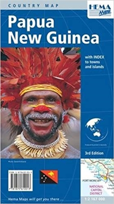 Papua New Guinea Map This attractive 3rd edition single-sided map of Papua New Guinea has features of all international and provincial boundaries, major roads, towns, provinces and land elevations. it also includes index of towns and places. Scale 1: 2,16