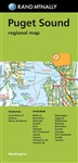 Puget Sound Regional Map by Rand McNally. Includes communities Bellevue, Bremerton, Edmonds, Everett, Kent, Olympia, Port Townsend, Seattle, Tacoma, Vancouver and Victoria, BC. Includes parks, points of interest, airports, county boundaries and vicinity m
