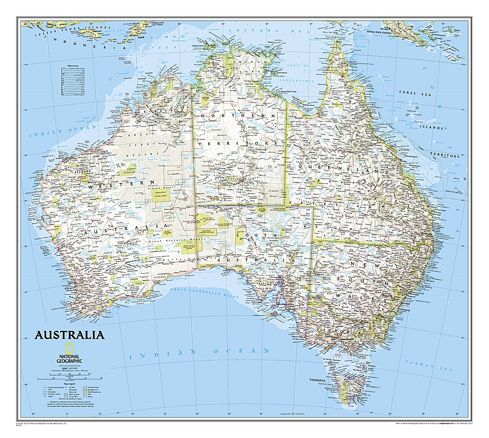 Australia classic national geographic wall map gumiabroncs Image collections