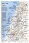 Holy Land National Geographic Wall Map. This fascinating map is an in-depth look at the faiths, peoples, and politics that have shaped this historic region. Features a detailed political map overlayed with facts about significant religious sites.